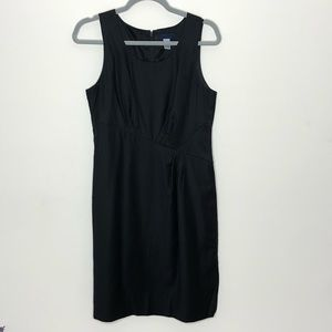 J. Crew black sleeveless wool sheath dress size 8